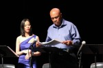 Lia Chang as Carole Barbara and Roscoe Orman as Franklin Wright in Lorey Hayes' Power Play. Photo by Will Chang